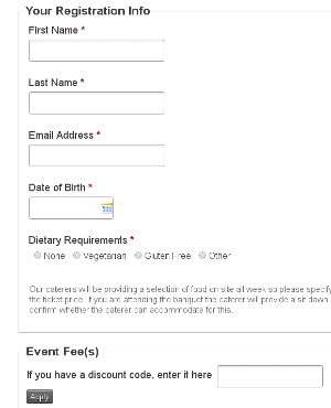 Bookings CiviCRM screenshot